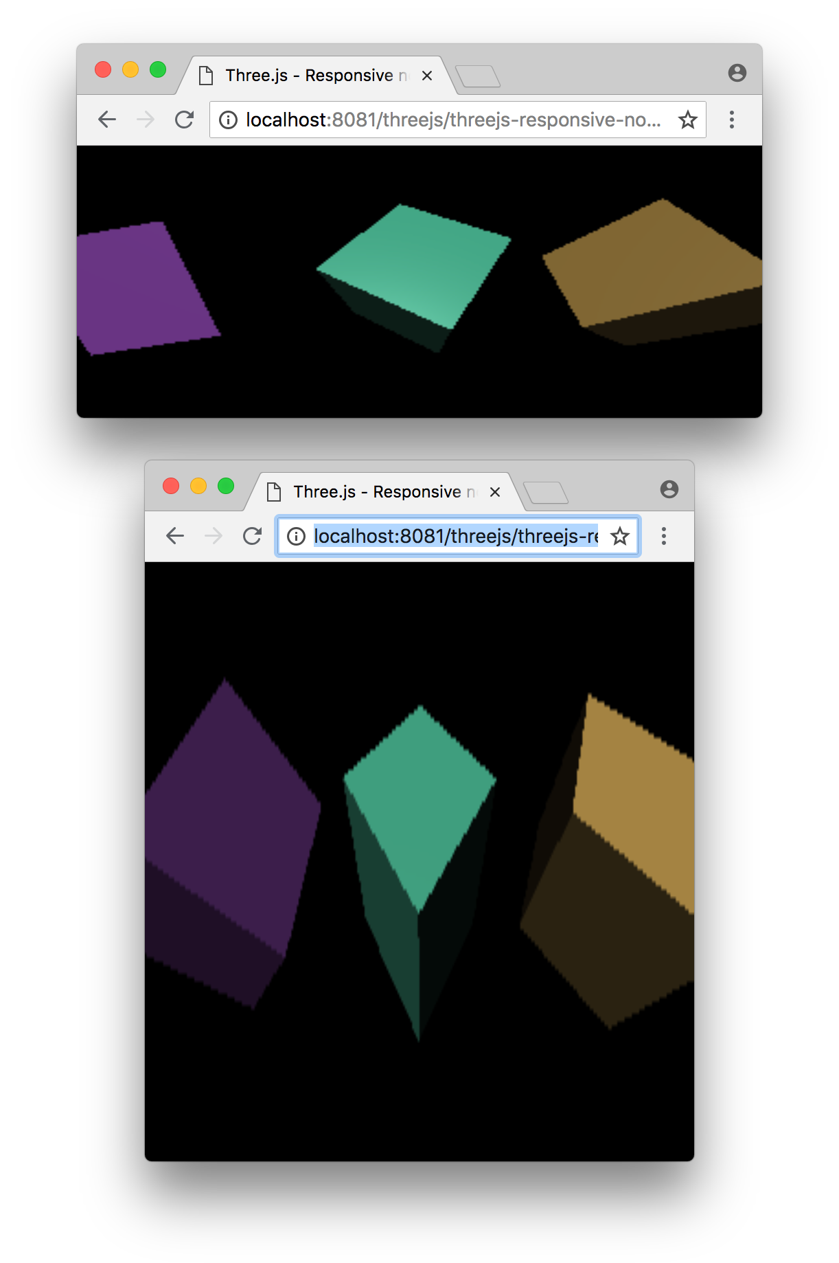 Three js Responsive Design